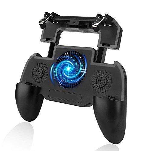 mando pc Controlador de juegos de disparo de gatilloJoystick deGamepadcon ventilador de refrigeración Controlador de juego de hebilla de seis dedosGamepad para Android