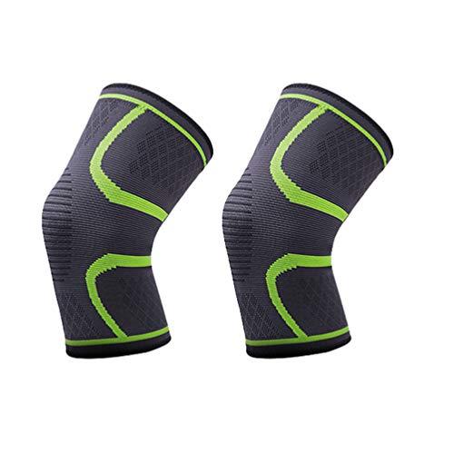 Xingkee Rodilleras 2 Paquetes Antideslizante Uniforme de presión Tejido Transpirable para Mujer y Hombre para Green XL