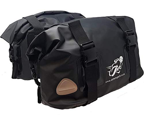 Motorbike bag Panniers Saddle bag 40L Roll Top Adventure, Sports, or Street bikes -Soft Luggage