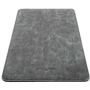 Atelier Jomaa Vintage Hülle aus hochwertigem Leder für Apple MacBook Pro & MacBook Air 13 Zoll schwarz/blau hergestellt…