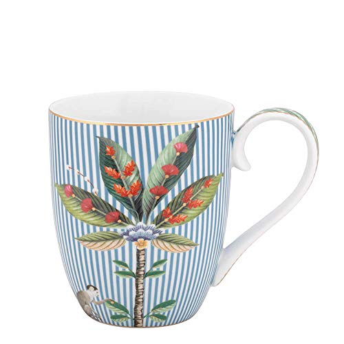 PiP Studio - Tasse, Becher, Henkelbecher, Mug XL - La Majorelle - Porzellan - blau - 450 ml