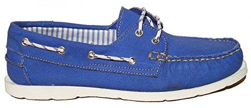BluePort Herren Canvas Bootsschuh Vermont, Größe:45 EU, Farbe:Royalblau
