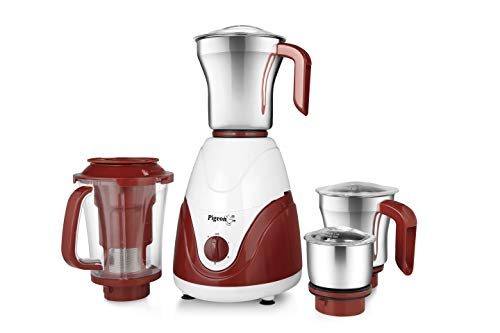 Pigeon by Stoverkraft Estella Advanced Mixer Grinder (White and Red)