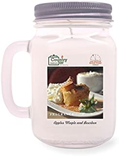 Country Jar Apples and Maple Bourbon Mason Jar Candle (16 oz.) 100% Natural Soy (3 OR More Sale!)
