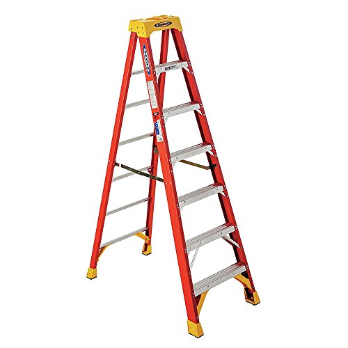 Werner 6207 300-Pound Duty Rating Type IA Fiberglass Stepladder, 7-Foot