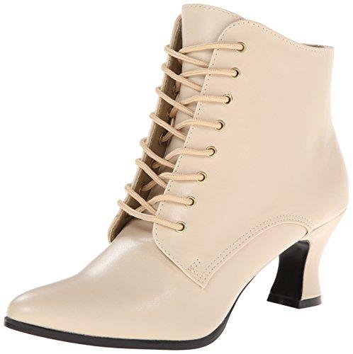 Pleaser Vic35, Unisex-Erwachsene Kurzschaft Stiefel, Off White (Cream), 39 EU (6 UK)