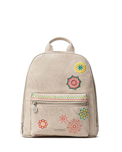 Desigual Backpack, PU, Mini Zaino in Poliuretano. Donna, Marrone, Medium