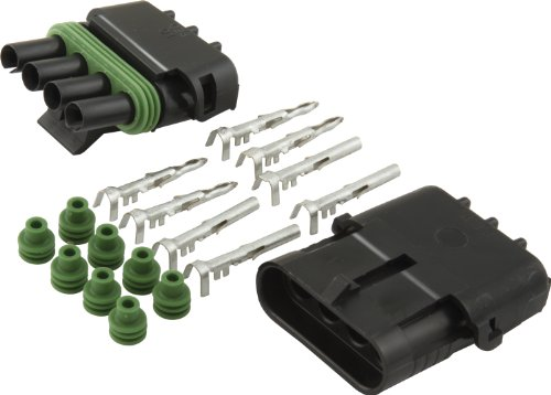 Allstar Performance ALL76268 4-Wire Flat Weather Pack Individual Connector Kit