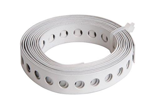 GAH-Alberts 334116 Lochband - weiß kunststoffbeschichtet, Breite: 12 mm, Länge: 1,5 m