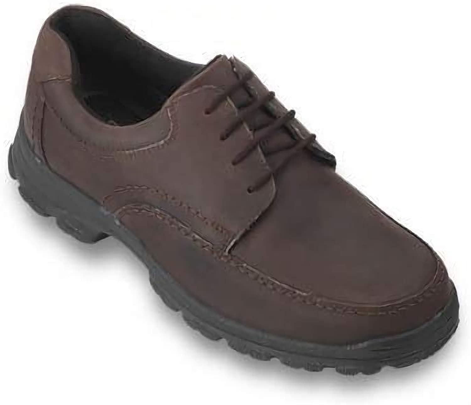 Db shoes Weymouth 4 Eyelet Gibson Mudguard LACE in Nubuck Brown (4E FIT)