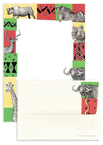 The Paper Company レターセット 便箋6枚×封筒3枚 (アフリカ×動物)628SS