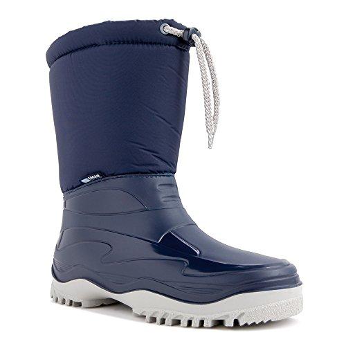 demar. Winterstiefel Schuhe gefüttert PICO, Blau, 39/40 EU