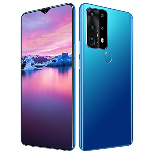 Unlocked Cell Phones P40 Plus 4800mah Battery 5G Android 10.0 Unlocked Smartphones 6.8' HD 12GB Ram+512GB ROM | Fingerprint Id and Facial Recognition | The Best Gift for Parents | (Color : Blue)