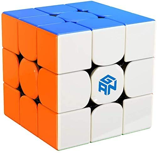 ROXENDA GAN 356 RS Speed Cube, Stickerless GAN 356RS Speedcube, GAN 3x3 Cube V3 System Cubo de Velocidad 3x3x3 for Beginners and Professionals, GAN 356 R Upgraded Version