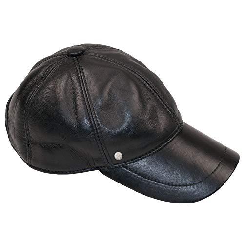 Dazoriginal Leder Baseball Cap Basecap Herren Baseballmütze Kappe Hute MEHRWEG