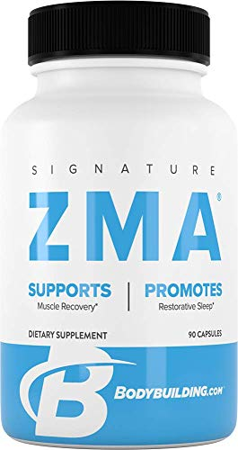 Bodybuilding Signature ZMA Capsules | Promote Sleep, Support Muscle Recovery | Boost Immune Health with Zinc, Vitamins Supplement | 30 Servings
