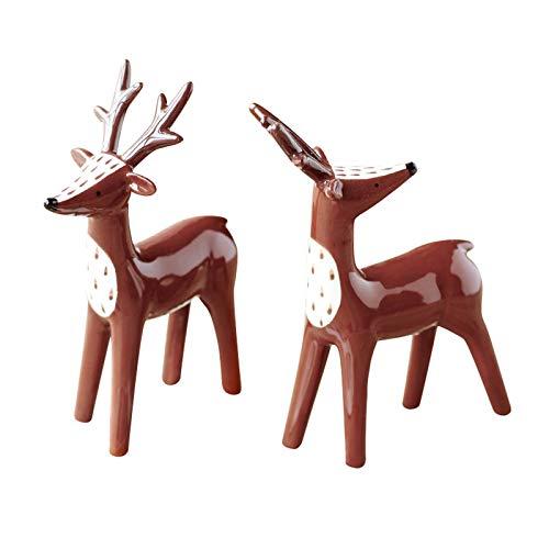 Artesanías De Escultura De Estatua Adornos de decoración de la Estatua de Ciervos de cerámica Simples Ornamentos de la Boda Creativa Gifts de la Boda de la Sala de Estar del gabinete de Vino del Vino