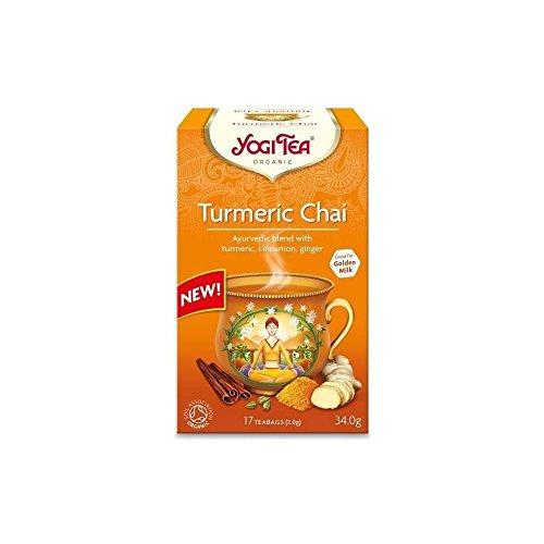 Yogi Organic Tea Turmeric Chai 17 Tea Bags 34g Blend with Turmeric, Cinnamon and Ginger (1)