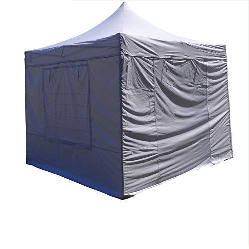 DELTA Canopies 10'x10' Fire Retardant Pop up Canopy Wedding Party Tent Gazebo EZ White - F Model Commercial Frame