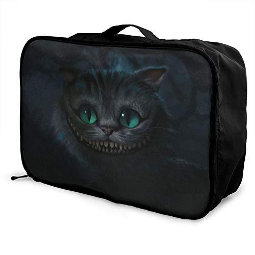 Cheshire Cat Alicia en el país de las maravillas Bolsa de viaje impermeable a la moda, ligera, de gran capacidad, portátil
