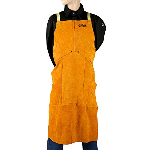 Lincoln Electric KH804 Brown One Size Flame-Resistant Leather Welding Apron