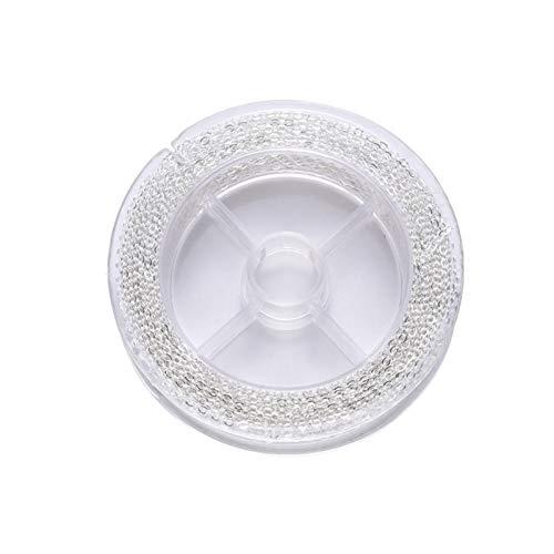 Cadena de cobre sin decoloración para hacer collares, anillos de salto para hacer joyas