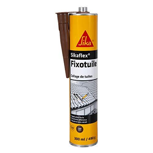Sika France S.A.S. Sika Fixotuile: masilla adhesiva especial para tejas, colorterracota, rojo, 402896