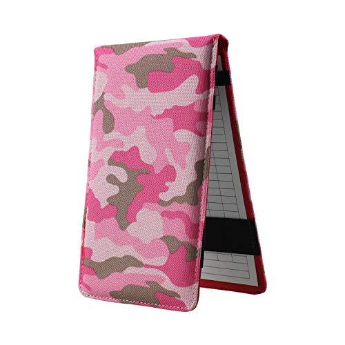 Crestgolf Golf Camouflage Scorecard Holder Nylon Golf Scorecard und Yardage Book Holder Kostenloser Golf Pencil Pocketbook Tracking Kartenhalter -pink