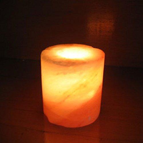 Himalayan Salt Cylinder Shaped Candleholder