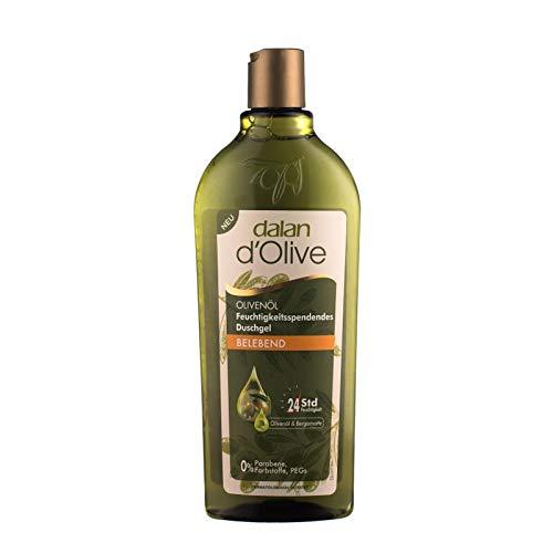 Dalan d'Olive feuchtigkeitsspendendes Duschgel - Belebend - mit Olivenöl - 3er Pack (3x 400ml)