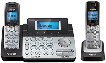 Vtech DS6151 DECT6.0 2-Line Cordless Phone System with 1 DS6101 Cordless Handset, Caller ID, Answering Machine photo