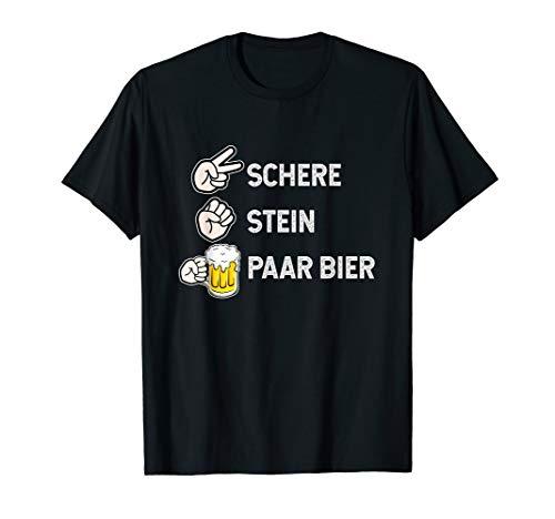 Lustiges Schere Stein Paar Bier Bierliebhaber Bier Hopfen T-Shirt