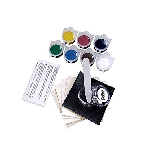Famyfamy Reparaturset für Leder und Vinyl - Komplettes Reparaturset für Lederfarben, Restaurator für farbige Sofas, Autositze, Schuhe, Handtaschen oder Armaturenbretter, andere beschädigte Bereiche
