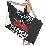 BGDFN Toallas de baño suaves y cómodas, superabsorbentes de secado rápido para playa, surf, natación, hotel, spa, yoga, guantes de boxeo rojos, sábana de baño negra