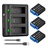 FirstPower 2000mAh Replacement Batteries for GoPro Hero 9 Battery (3-Pack) and...