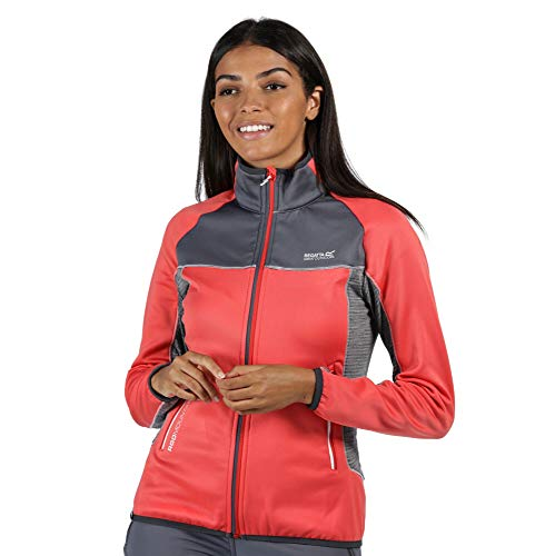 Regatta Veste Softshell Yare II avec Parties Stretch et Envers Chaud Soft Shell Femme, Red Sky/Onyx Grey, FR : XS (Taille Fabricant : 10)