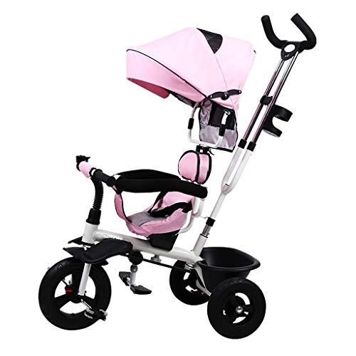 Triciclo Bebe Triciclo,Triciclo Infantil Multifuncional Plegable De Un Botón Con Asiento Giratorio Bidireccional,Bicicleta De Tres Ruedas for Bebés Al Aire Libre,4 Colores,100x74x56cm ( Color : Pink )