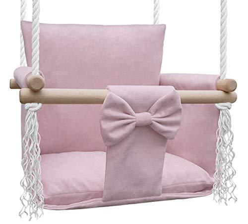 NATILU Columpio para niños, Columpio para niños pequeños, Columpio para bebé y Columpio, Columpio de Madera para niños - los niños aman Nuestros Columpios (Magic Pink)
