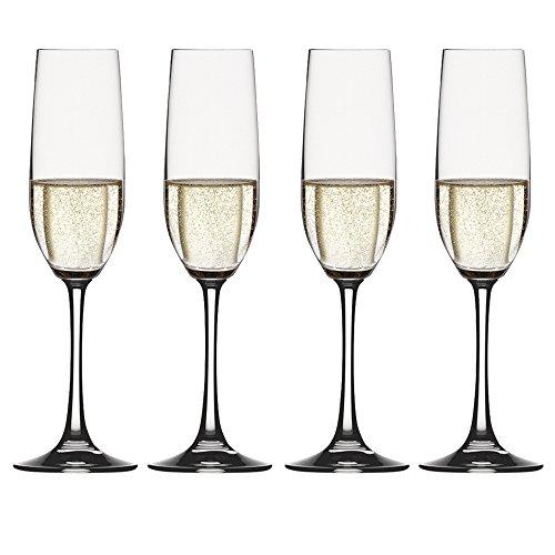 Spiegelau & Nachtmann, 4-teiliges Champagnerflöten-Set, Kristallglas, 258 ml, Vino Grande, 4510275