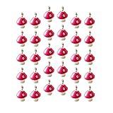 EXCEART 30 Piezas 12 Mm Setas Colgantes Encantos Resina Seta en Miniatura Cuentas de Joyería Que Hacen Encantos Llaveros Colgante para Bricolaje Artesanía Pendientes Pulsera Collar