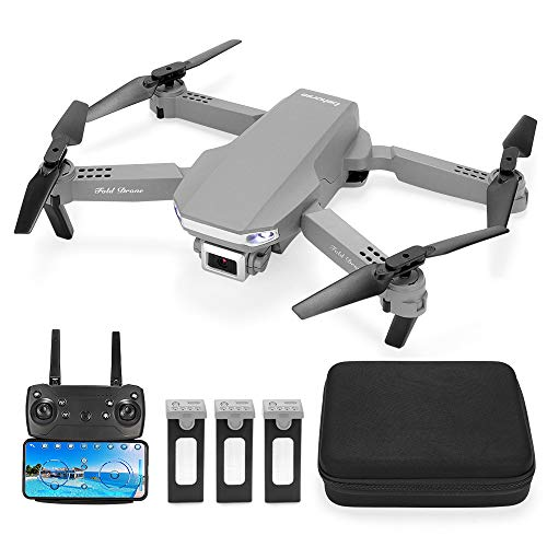 Behorse FPV RC Drone with 1080P HD Camera for Beginners & Adults, Foldable Drone with WiFi Live Video,One Key Take Off, 3D Flips, with Extra 2 Batteries and Carrying Case