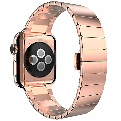 Correa de reloj de acero inoxidable azul compatible con Apple Watch Series 6, SE, 5, 4, 3, 40 mm, 44 mm, compatible con Iwatch 6 5, correa de repuesto de nailon