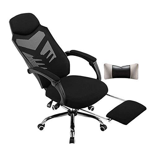 N/Z Daily Equipment Chair Gaming-Stuhl mit hoher Rückenlehne und Fußstütze Ergonomischer, komfortabler Bürostuhl Liegender Videospiel-Computer-Schreibtischstuhl Tragfähigkeit: 330 lbs weißer Rahmen