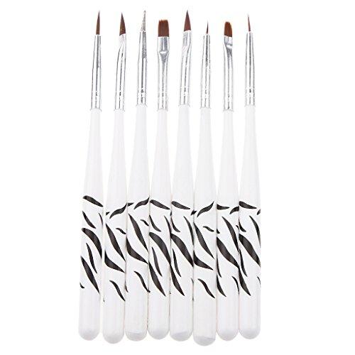 7pcs Nail Art Brosse Pinceau+1 Stylo Perceuse Point Drill Pour Déco Ongle Gel UV Nail Art Polonais Manucure