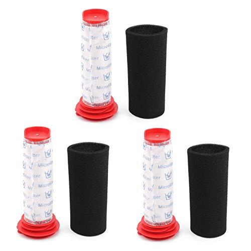 DingGreat 3 Filtros de Espuma y 3 Filtros Microsan para Aspiradoras inalámbricas Bosch BCH6ZOOO Zoo