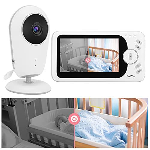 Monitor interior, monitor de bebé inteligente con pantalla de 4,3 pulgadas, intercomunicador de voz bidireccional con despertador para el hogar(Transl)