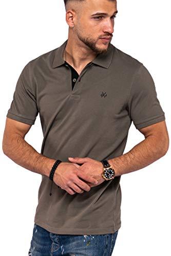 JACK & JONES Herren Poloshirt Infinity Basic Polo Polohemd (XL, Dusty Olive)