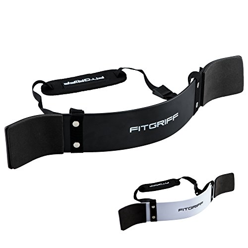 Fitgriff Arm Blaster, Bicep Blaster, Aislador de Brazo y Bíceps, Levantamiento de Pesas, Arm Curl, Bicep Isolater Trainer, Accesorio para Gimnasio (Black)