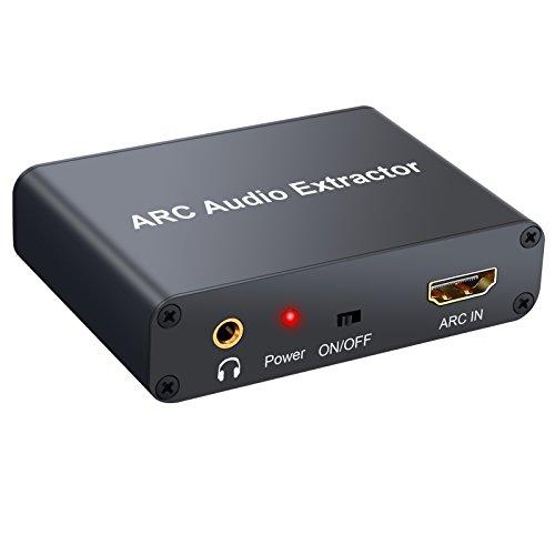Proster HDMI Audio Extractor 192KHz DAC Konverter ARC Audio Extractor Unterstützung Digital HDMI Audio zu Analog Stereo Audio RCA L / R Koaxial SPDIF und 3.5mm Jack ARC Audio Adapter für TV