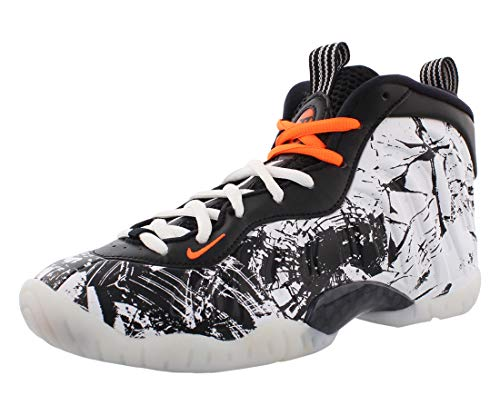 Nike Big Kids Little Posite Uno Zapatos De Basquetbol, gris (Negro/Total Naranja/Blanco), 20 EU